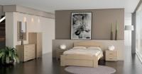 Κύμα - κρεβατοκάμαρα αποτελούμενη από 1 κρεβάτι διπλό (στρώμα 140x200) με ανατομικό τελάρο, 2 κομοδίνα, 1 τουαλέτα, 1 καθρέπτη.