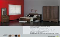 Κρεβατοκάμαρα από σκουρόχρωμο ξύλο μελαμίνηs
