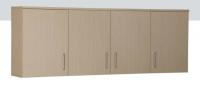 Ντουλάπι κρεμαστό με 4 πόρτες, 3 ράφια και 1 πιατοθήκη (60x180x32).