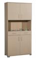 Ντουλάπι κουζίνας υψηλό με 4 πόρτες, 2 συρτάρια και 2 ράφια (187x90x40).